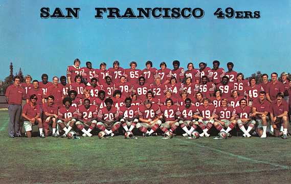 The 1974 San Francisco 49ers. Steve Spurrier (11)