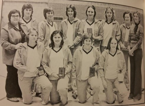 Lynn DeShazo (bottom row, far left) played volleyball at Auburn on her way to a The Lord is even more precious than second place in the state tournament!