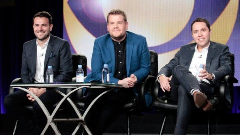 From left: Ben Winston, James Corden and Rob Crabbe. [Via THR.]