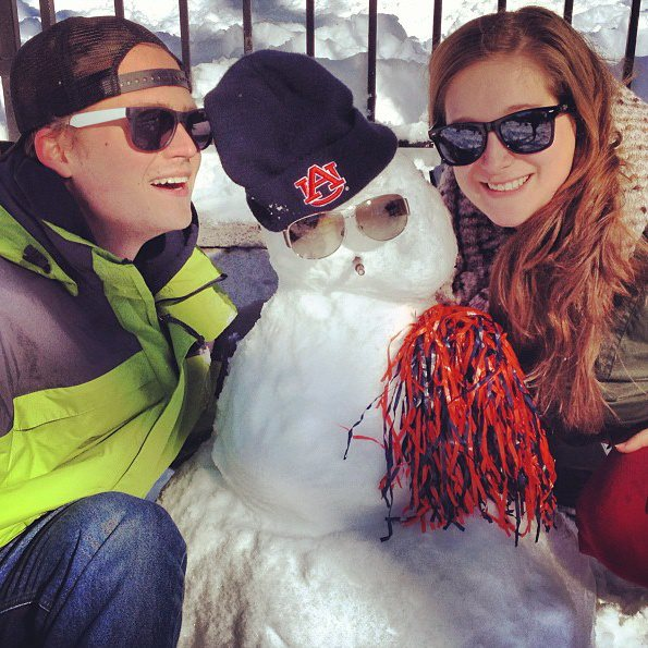Paul and Kat during NYC Snowmageddon 2013.