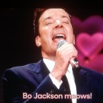 Jimmy Fallon sings 'Bo Jackson meows' in Nonsense Karaoke on 'Tonight Show'