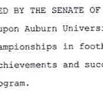 Sen. Tom Whatley responds to critics of his senate resolution urging Auburn to claim 9 national championships