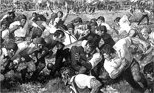 Rutgers vs. Princeton 1869? Auburn vs. Auburn 1888? Who can say...