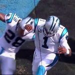 The Spanish radio call of Cam Newton's amazing flip touchdown vs. Houston is great