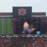 Super Nova: Auburn's video board crew says distract-the-kicker eagle death stare graphic was a spur of the moment decision that everyone loved—but will they do it again?
