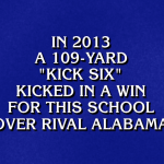 Kick Six makes 'Great Football Plays' category in new episode of Jeopardy!