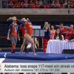 Here's ESPN's segment on Auburn's historic gymnastics win over Alabama
