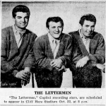 P.S. The Lettermen played Jordan-Hare Stadium before Kenny Chesney, too.