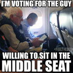 Yep, pretty sure that's an Auburn shirt in that Bernie Sanders Flies Coach meme