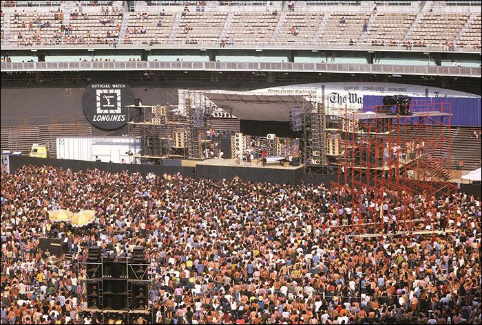 An estimated 80,000 people attended the two shows The Grateful Dead and the Allman Brothers Band played at RFK Stadium in Washington D.C. in the summer of 1973.
