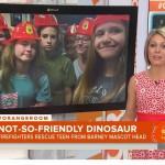 15-year-old Auburn fan gets stuck in Barney head, goes viral