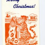 The Christmas cards Phil Neel did for Auburn's Athletics Department in the late 1950s
