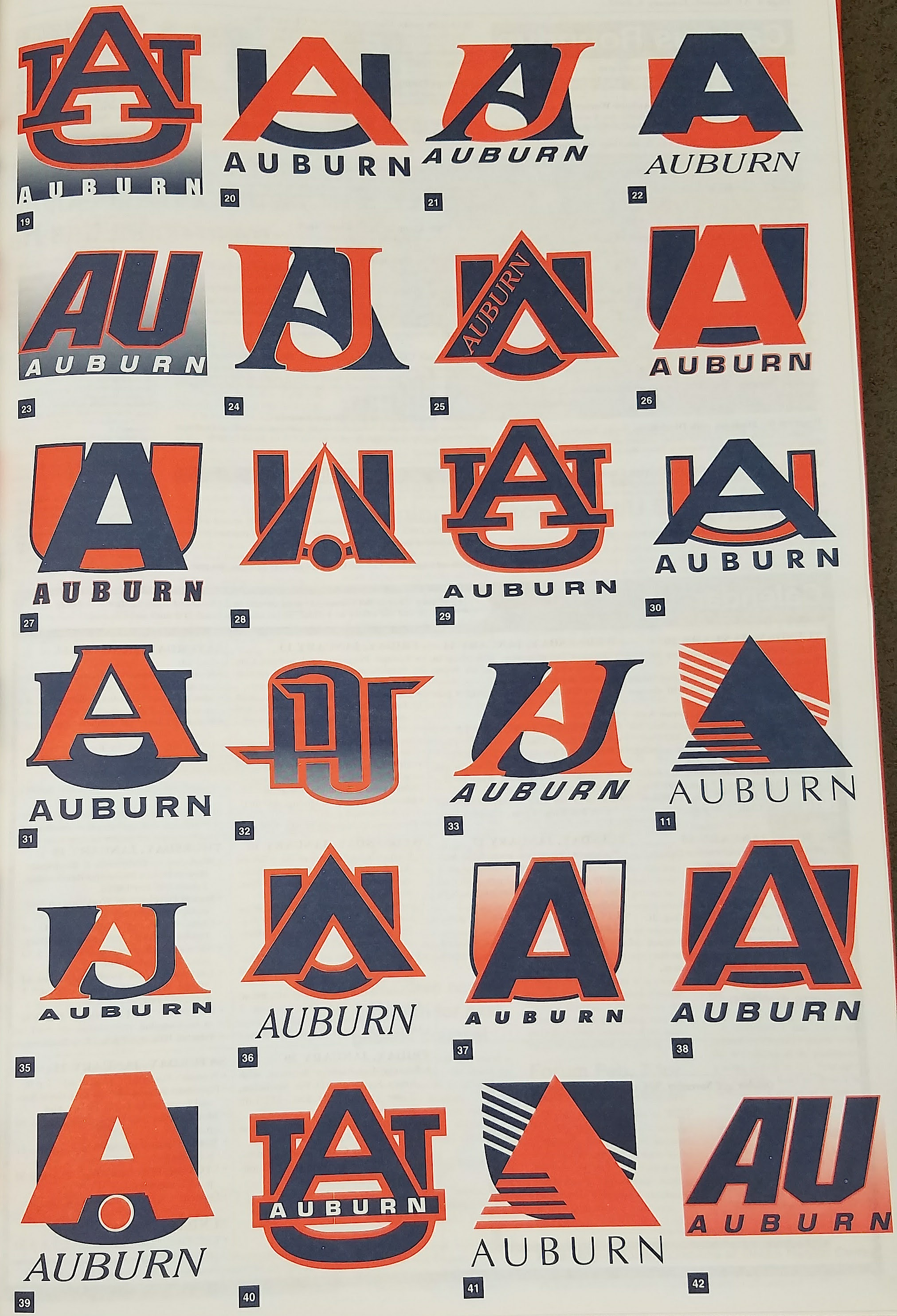 that time auburn tried to replace the au logo and people went loco