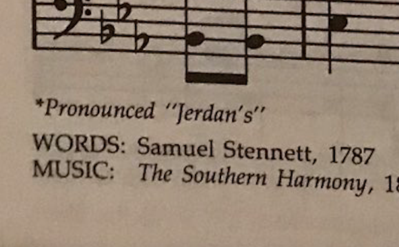 Please turn with me in your hymnal to the correct pronunciation of
