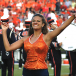 WATCH: Dozens of former Auburn majorettes pass the baton to pass the time
