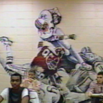The Bo Jackson mural McAdory High School had on a classroom wall in the 1980s is over the top