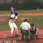 Mid-80s camcorder action of Bo Jackson practicing and playing baseball at Auburn