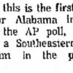 Newspapers, AP described Bama's 1961 national championship as its first