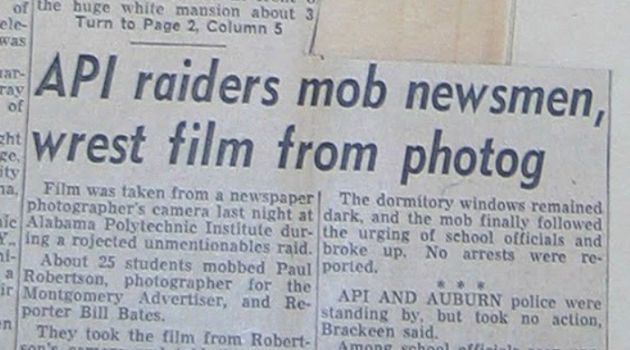 That time Auburn mauled the media to punish Panty Raid pandemic publicity