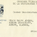 Shug's 1972 letter from the Presidente De La Comisión Técnica De Foot Ball Americana