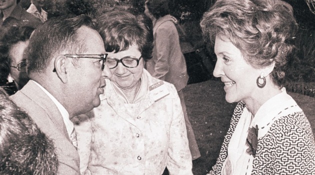 30 never-before-seen photos of Nancy Reagan campaigning for Ronald in Auburn in 1976
